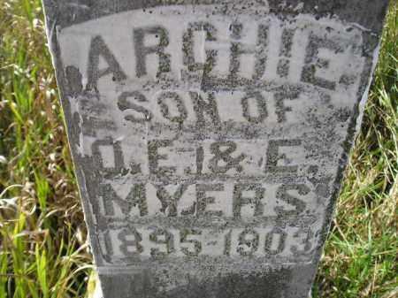 MYERS, ARCHIE - Miner County, South Dakota | ARCHIE MYERS - South Dakota Gravestone Photos