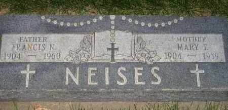 NEISES, MARY L. - Miner County, South Dakota | MARY L. NEISES - South Dakota Gravestone Photos