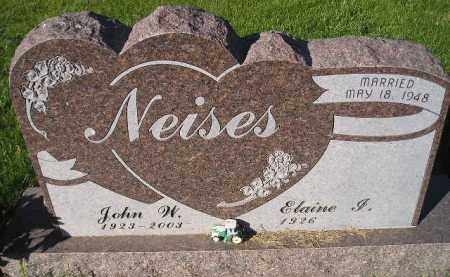 NEISES, ELAINE I. - Miner County, South Dakota | ELAINE I. NEISES - South Dakota Gravestone Photos