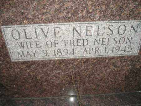NELSON, OLIVE - Miner County, South Dakota | OLIVE NELSON - South Dakota Gravestone Photos
