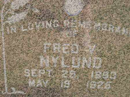 NYLUND, FRED V. - Miner County, South Dakota | FRED V. NYLUND - South Dakota Gravestone Photos