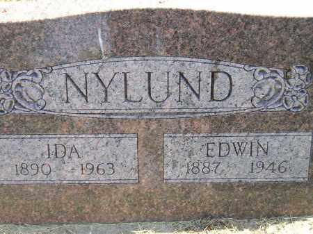 NYLUND, EDWIN - Miner County, South Dakota | EDWIN NYLUND - South Dakota Gravestone Photos
