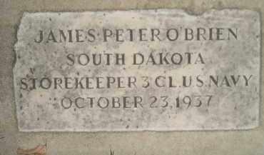 O'BRIEN, JAMES PETER - Miner County, South Dakota | JAMES PETER O'BRIEN - South Dakota Gravestone Photos