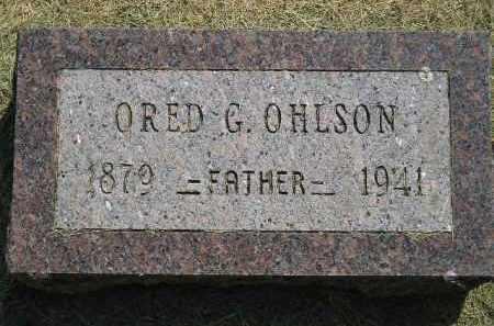 OHLSON, ORED G. - Miner County, South Dakota   ORED G. OHLSON - South Dakota Gravestone Photos