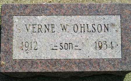 OHLSON, VERNE W. - Miner County, South Dakota   VERNE W. OHLSON - South Dakota Gravestone Photos