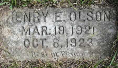 OLSON, HENRY E. - Miner County, South Dakota   HENRY E. OLSON - South Dakota Gravestone Photos