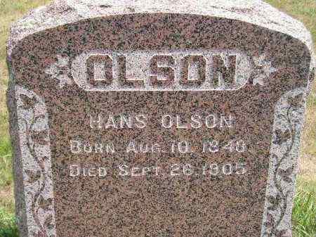 OLSON, HANS - Miner County, South Dakota | HANS OLSON - South Dakota Gravestone Photos