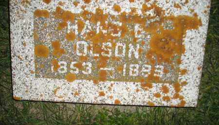 OLSON, HANS E. - Miner County, South Dakota | HANS E. OLSON - South Dakota Gravestone Photos