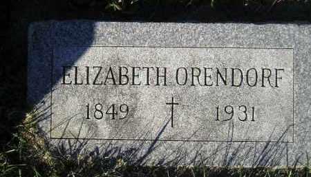 ORENDORF, ELIZABETH - Miner County, South Dakota | ELIZABETH ORENDORF - South Dakota Gravestone Photos