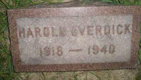 OVERDICK, HAROLD - Miner County, South Dakota | HAROLD OVERDICK - South Dakota Gravestone Photos