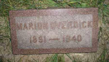 OVERDICK, MARION - Miner County, South Dakota | MARION OVERDICK - South Dakota Gravestone Photos