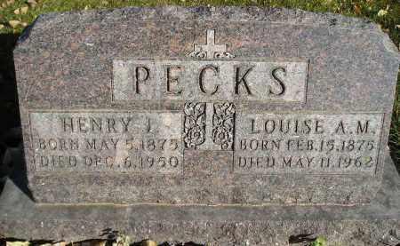 PECKS, HENRY J. - Miner County, South Dakota   HENRY J. PECKS - South Dakota Gravestone Photos