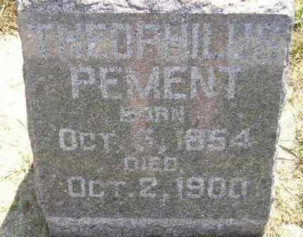 PEMENT, THEOPHILUS - Miner County, South Dakota | THEOPHILUS PEMENT - South Dakota Gravestone Photos
