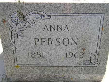 PERSON, ANNA - Miner County, South Dakota | ANNA PERSON - South Dakota Gravestone Photos