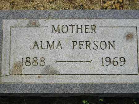 PERSON, ALMA - Miner County, South Dakota   ALMA PERSON - South Dakota Gravestone Photos