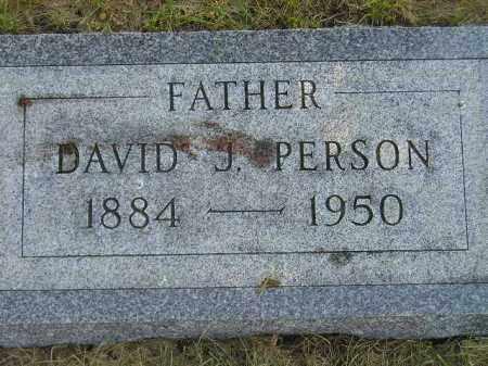 PERSON, DAVID J. - Miner County, South Dakota | DAVID J. PERSON - South Dakota Gravestone Photos