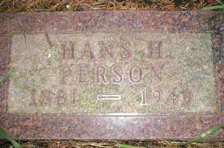 PERSON, HANS H. - Miner County, South Dakota | HANS H. PERSON - South Dakota Gravestone Photos