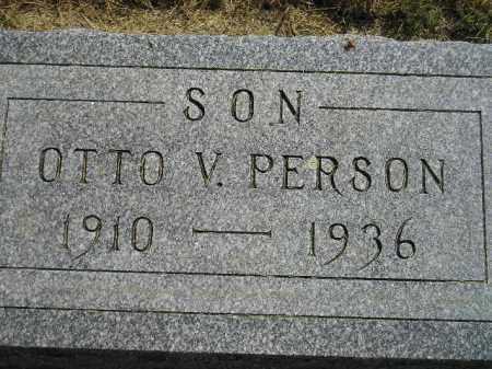 PERSON, OTTO V. - Miner County, South Dakota | OTTO V. PERSON - South Dakota Gravestone Photos