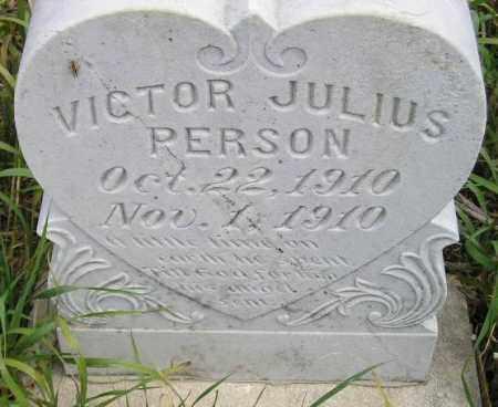 PERSON, VICTOR JULIUS - Miner County, South Dakota | VICTOR JULIUS PERSON - South Dakota Gravestone Photos