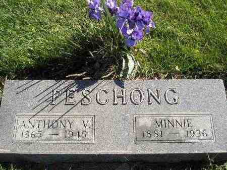 PESCHONG, ANTHONY V. - Miner County, South Dakota | ANTHONY V. PESCHONG - South Dakota Gravestone Photos