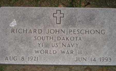 PESCHONG, RICHARD JOHN (WW II) - Miner County, South Dakota | RICHARD JOHN (WW II) PESCHONG - South Dakota Gravestone Photos