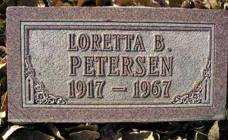 PETERSEN, LORETTA B. - Miner County, South Dakota   LORETTA B. PETERSEN - South Dakota Gravestone Photos