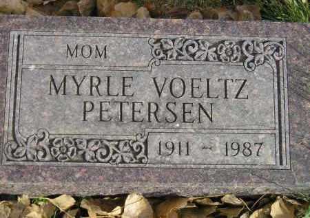 VOELTZ PETERSEN, MYRLE - Miner County, South Dakota | MYRLE VOELTZ PETERSEN - South Dakota Gravestone Photos