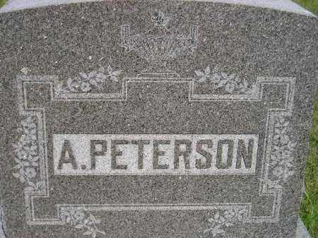 PETERSON, A.  (FAMILY STONE?) - Miner County, South Dakota | A.  (FAMILY STONE?) PETERSON - South Dakota Gravestone Photos