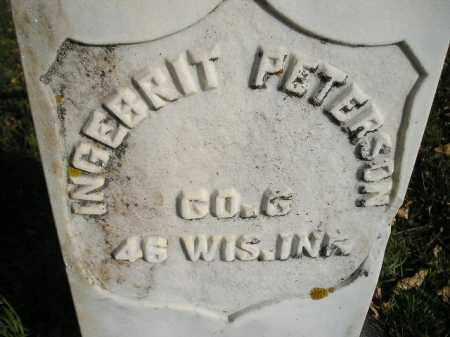 PETERSON, INGEBRIT - Miner County, South Dakota | INGEBRIT PETERSON - South Dakota Gravestone Photos