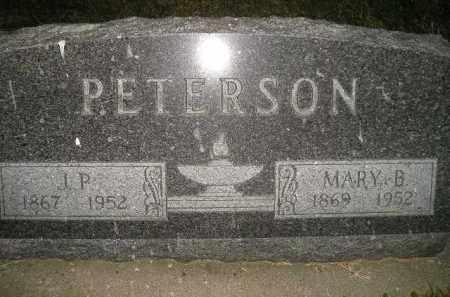 PETERSON, J.P. - Miner County, South Dakota   J.P. PETERSON - South Dakota Gravestone Photos