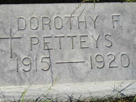 PETTEYS, DOROTHY F. - Miner County, South Dakota | DOROTHY F. PETTEYS - South Dakota Gravestone Photos