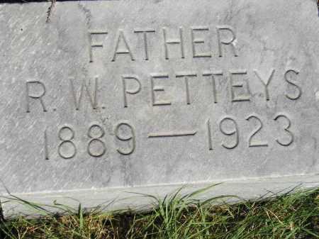 PETTEYS, R.W. - Miner County, South Dakota | R.W. PETTEYS - South Dakota Gravestone Photos