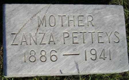 PETTEYS, ZANZA - Miner County, South Dakota | ZANZA PETTEYS - South Dakota Gravestone Photos
