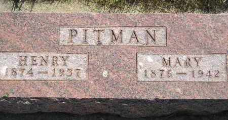 PITMAN, MARY - Miner County, South Dakota | MARY PITMAN - South Dakota Gravestone Photos