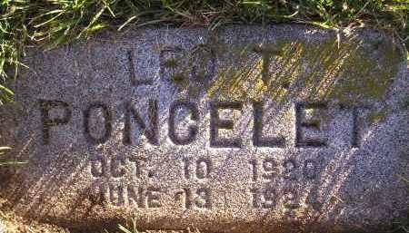 PONCELET, LEO T. - Miner County, South Dakota | LEO T. PONCELET - South Dakota Gravestone Photos