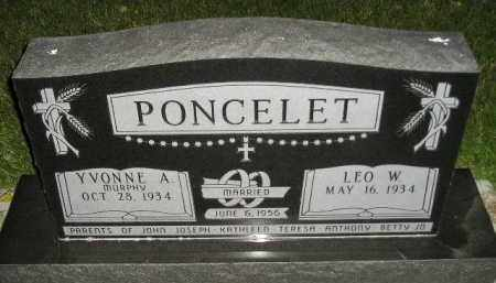 PONCELET, LEO W. - Miner County, South Dakota | LEO W. PONCELET - South Dakota Gravestone Photos