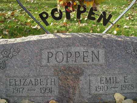 POPPEN, EMIL E. - Miner County, South Dakota | EMIL E. POPPEN - South Dakota Gravestone Photos