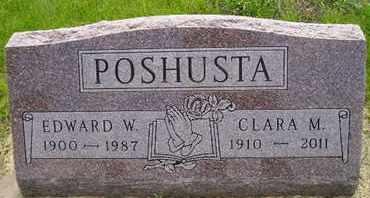 POSHUSTA, CLARA M - Miner County, South Dakota | CLARA M POSHUSTA - South Dakota Gravestone Photos