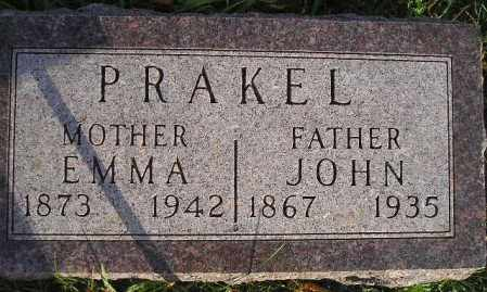 PRAKEL, EMMA - Miner County, South Dakota | EMMA PRAKEL - South Dakota Gravestone Photos