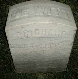 PRICHARD, DE WITT - Miner County, South Dakota   DE WITT PRICHARD - South Dakota Gravestone Photos