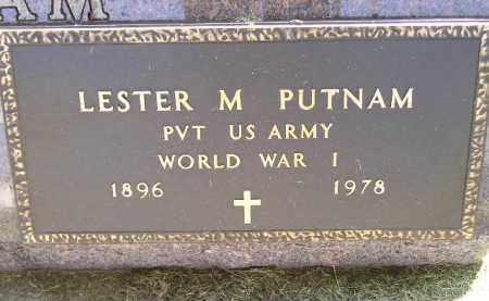 PUTNAM, LESTER M. - Miner County, South Dakota | LESTER M. PUTNAM - South Dakota Gravestone Photos
