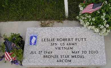 PUTT, LESLIE ROBERT - Miner County, South Dakota | LESLIE ROBERT PUTT - South Dakota Gravestone Photos