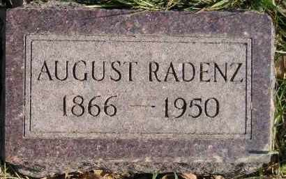 RADENZ, AUGUST - Miner County, South Dakota | AUGUST RADENZ - South Dakota Gravestone Photos