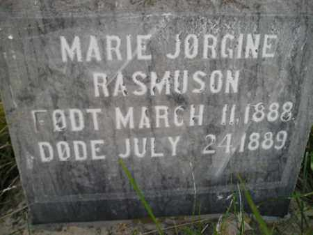 RASMUSON, MARIE JORGINE - Miner County, South Dakota | MARIE JORGINE RASMUSON - South Dakota Gravestone Photos