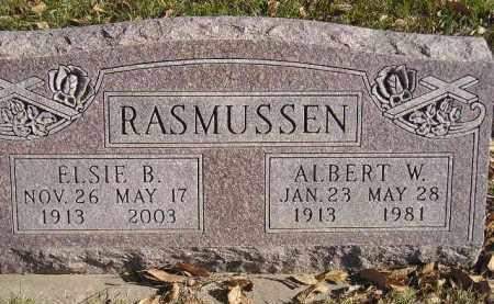 RASMUSSEN, ALBERT W. - Miner County, South Dakota | ALBERT W. RASMUSSEN - South Dakota Gravestone Photos