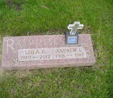 RASMUSSEN, ANDREW L - Miner County, South Dakota   ANDREW L RASMUSSEN - South Dakota Gravestone Photos