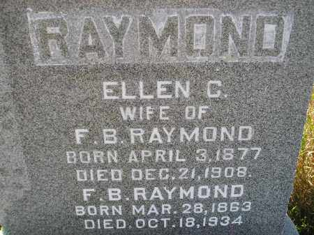 RAYMOND, ELLEN C. - Miner County, South Dakota | ELLEN C. RAYMOND - South Dakota Gravestone Photos