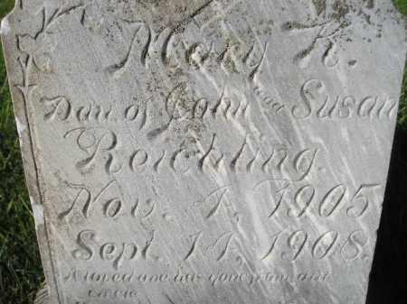 REICHLING, MARY K. - Miner County, South Dakota | MARY K. REICHLING - South Dakota Gravestone Photos