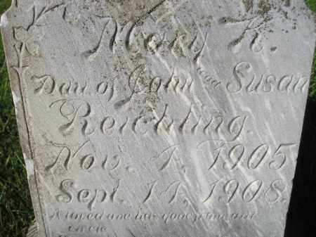 REICHLING, MARY K. - Miner County, South Dakota   MARY K. REICHLING - South Dakota Gravestone Photos