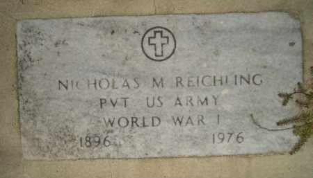REICHLING, NICHOLAS M. - Miner County, South Dakota | NICHOLAS M. REICHLING - South Dakota Gravestone Photos